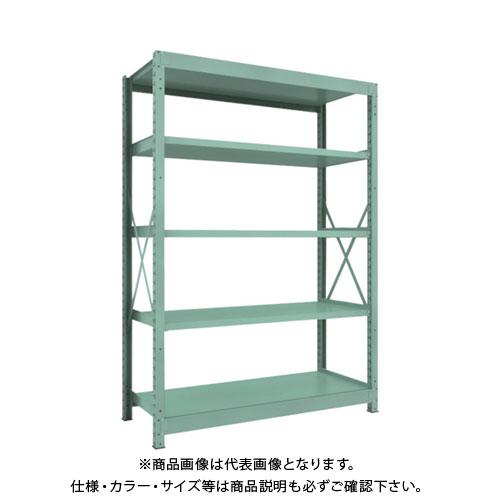 【直送品】 TRUSCO R3型中量棚 1500X600XH2100 5段 単体 R3-7565