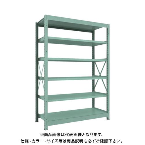 【直送品】 TRUSCO R3型中量棚 1500X600XH2100 6段 単体 R3-7566