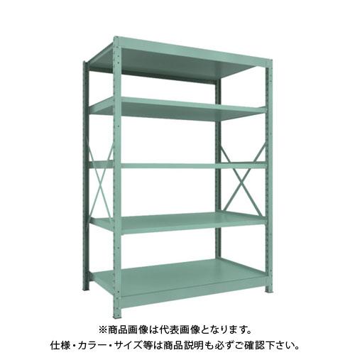 【直送品】 TRUSCO R3型中量棚 1500X900XH2100 5段 単体 R3-7595