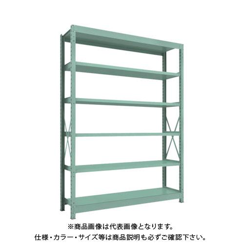 【直送品】 TRUSCO R3型中量棚 1800X450XH2400 6段 単体 R3-8656