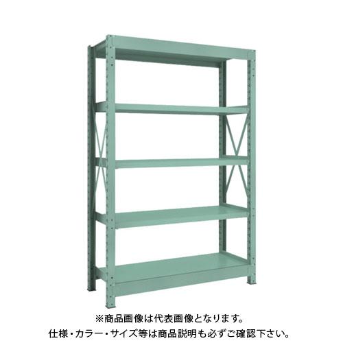 【直送品】 TRUSCO R3型中量棚 1200X450XH1800 5段 単体 R3-6455
