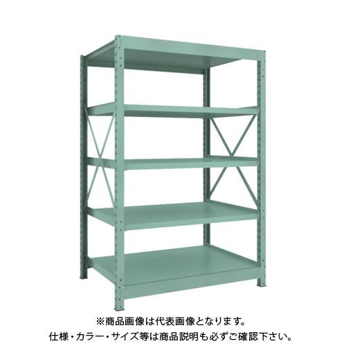 【直送品】 TRUSCO R3型中量棚 1200X900XH1800 5段 単体 R3-6495
