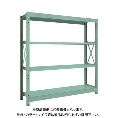 【直送品】 TRUSCO R3型中量棚 1800X450XH1800 4段 単体 R3-6654