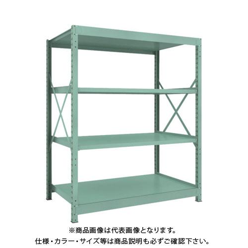 【直送品】 TRUSCO R3型中量棚 1500X900XH1800 4段 単体 R3-6594