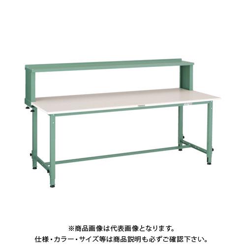 【直送品】 TRUSCO RAEM型高さ調節作業台 1800X900 上棚付 RAEM-1809YURB