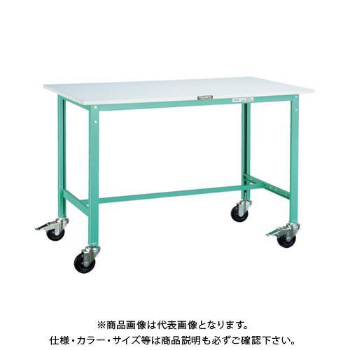 【直送品】 TRUSCO RAE型作業台 900X600XH740 100Φキャスター付 Y RAE-0960C100 YG