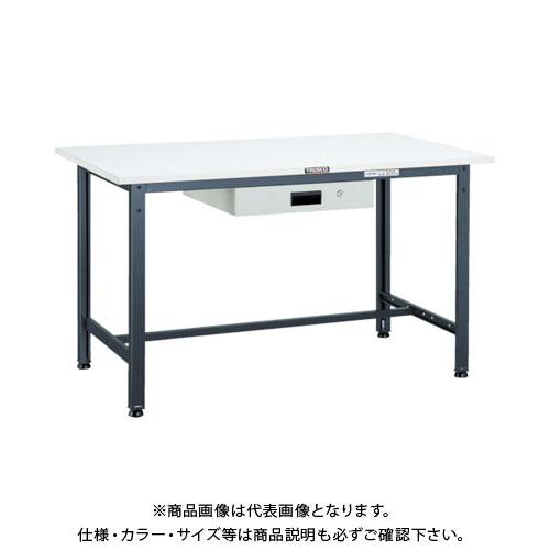 【直送品】 TRUSCO RAE型作業台 900X600XH740 薄型1段引出付 DG色 RAE-0960UDK1 DG