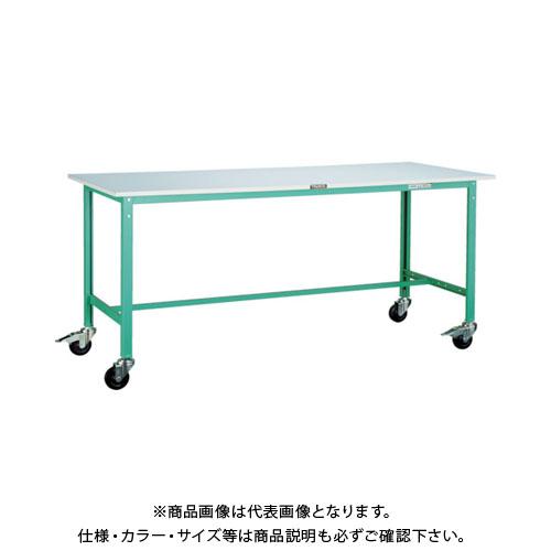 【直送品】 TRUSCO RAE型作業台 1800X7450XH740 100Φキャスター付 RAE-1800C100 DG