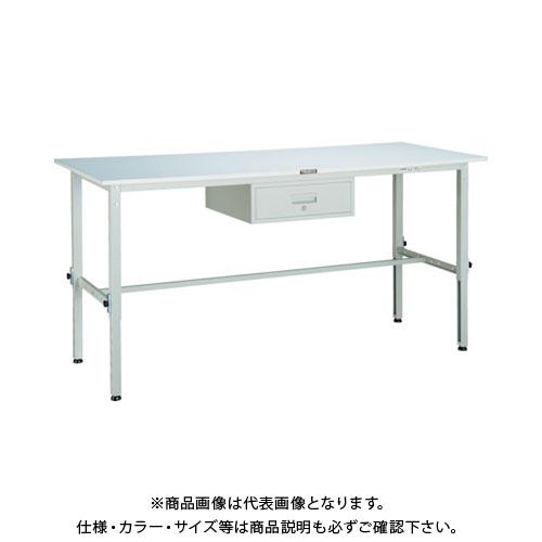 【直送品】 TRUSCO RAEM型高さ調整作業台 1800X750 1段引出付 W色 RAEM-1800F1 W