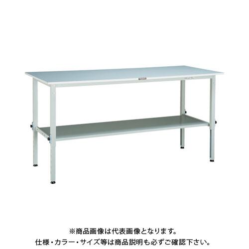 【直送品】 TRUSCO RAEM型高さ調整作業台 1800X750 下棚2枚付 W色 RAEM-1800LT2 W
