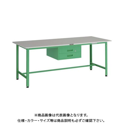 【直送品】 TRUSCO RAE型作業台 1800X750XH740 2段引出付 YG色 RAE-1800F2 YG