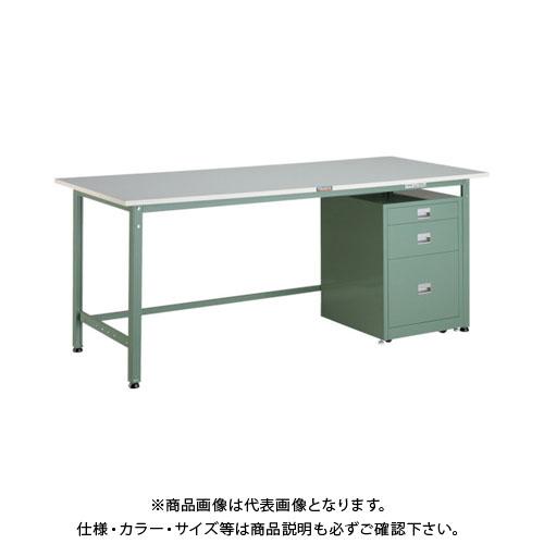 【直送品】 TRUSCO RAE型作業台 1800X750XH740 3段キャビネット付 RAE-1800UDC111