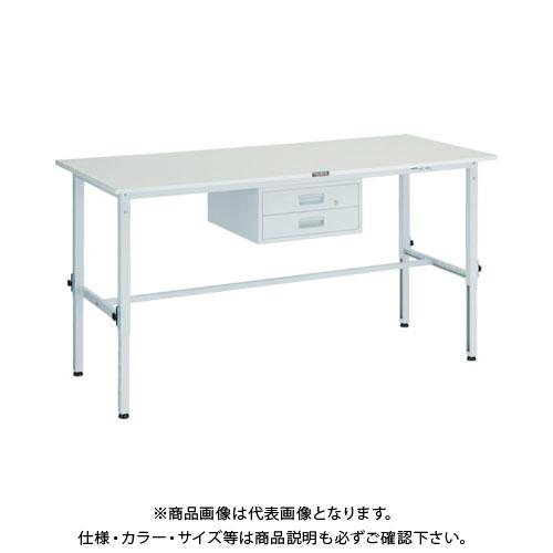 【直送品】 TRUSCO RAEM型高さ調節作業台 1800X900 2段引出付 W色 RAEM-1809F2 W