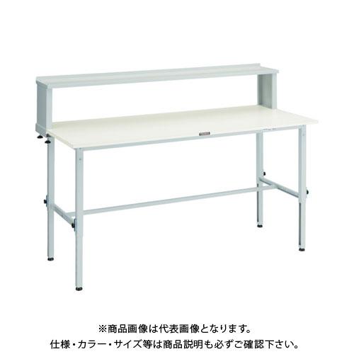 【直送品】 TRUSCO RAEM型高さ調節作業台 1800X900 上棚付 W色 RAEM-1809YURB W