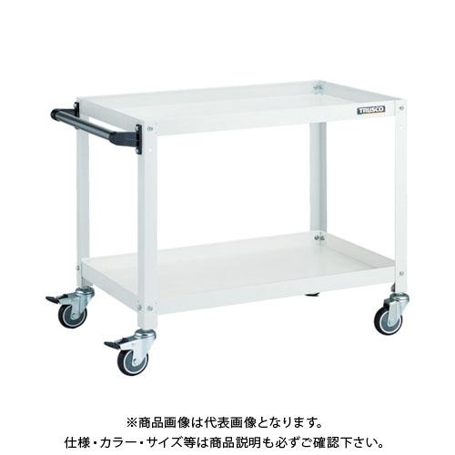 【運賃見積り】【直送品】TRUSCO ラビットワゴン 600X400 ハンドル付 ウレタン車輪 W色 RBW-662HU W