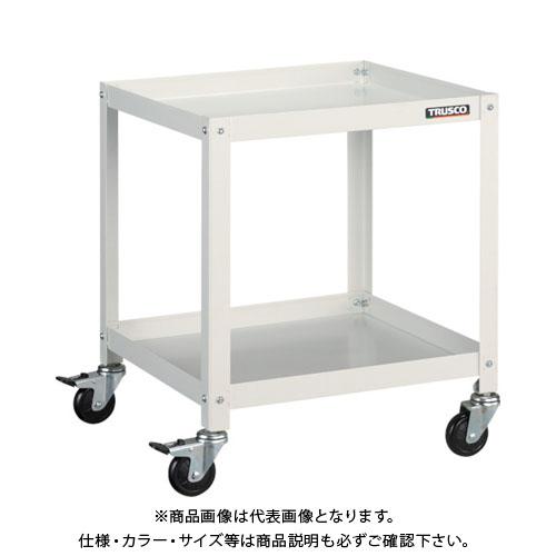 【運賃見積り】【直送品】TRUSCO ラビットワゴン 700X450 ゴム車輪 W色 RBW-672 W