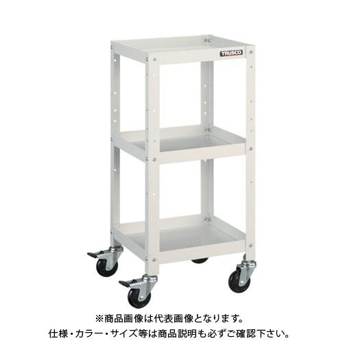 【運賃見積り】【直送品】TRUSCO ラビットワゴン 600X400 ゴム車輪 W色 RBW-763 W
