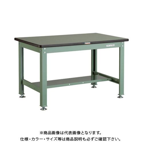 【直送品】 TRUSCO RHW型作業台 900X600XH740 緑 RHW-0960:GN