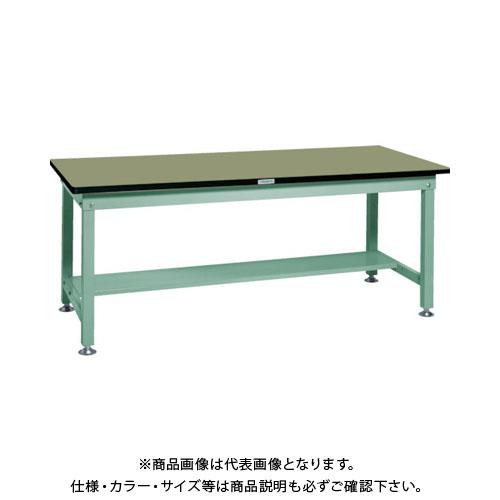 【直送品】 TRUSCO RHW型作業台 1800X900XH740 緑 RHW-1809:GN