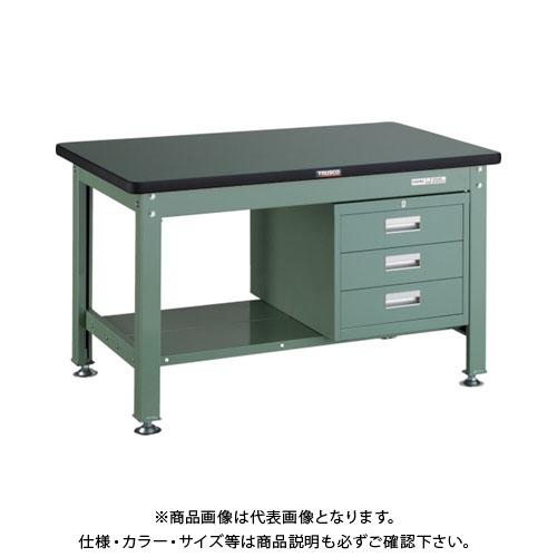 【直送品】 TRUSCO RDW型作業台 1200X750XH740 3段引出付 RDW-1200D3
