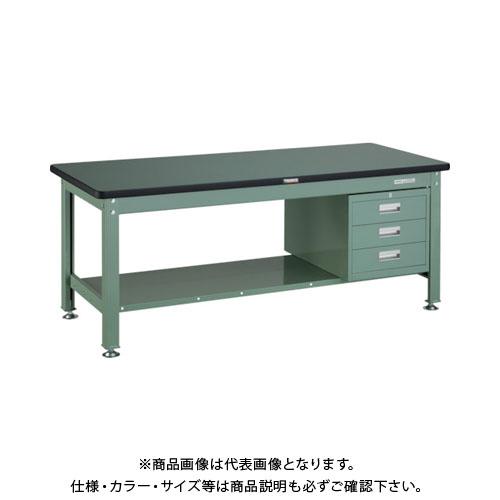 【直送品】 TRUSCO RDW型作業台 1800X750XH740 3段引出付 RDW-1800D3