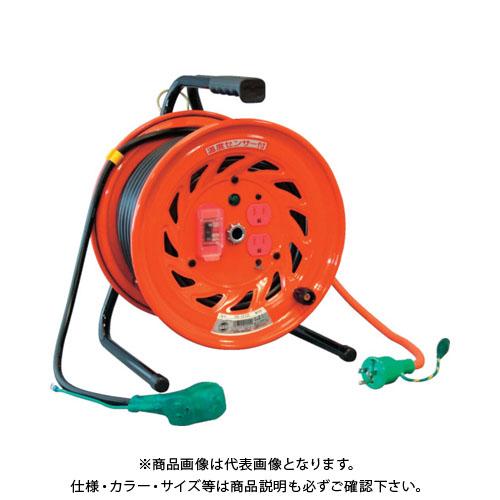 日動 電工ドラム びっくリール 100V アース過負荷漏電しゃ断器付 30m RND-EK30S