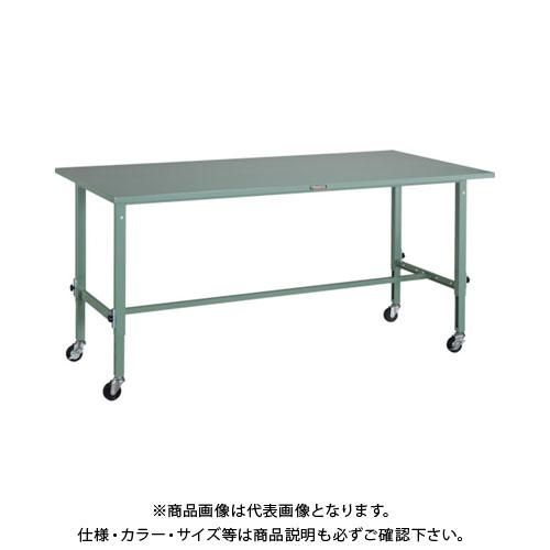 【直送品】 TRUSCO SAEM型高さ調節作業台 1800X900 φ75キャスター付 SAEM-1809C75