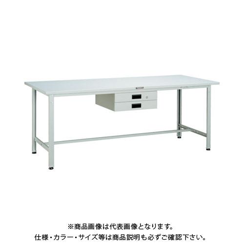 【直送品】 TRUSCO SAE型作業台 900X600XH740 薄型2段引出付 DG色 SAE-0960UDK2 DG