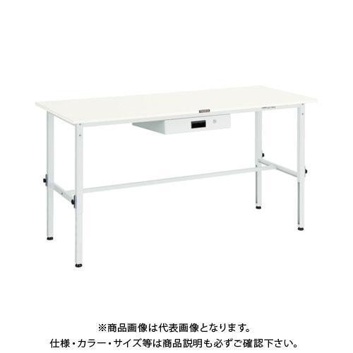 【直送品】 TRUSCO SAEM型高さ調整作業台 1800X750 薄型1段引出付 W色 SAEM-1800UDK1 W