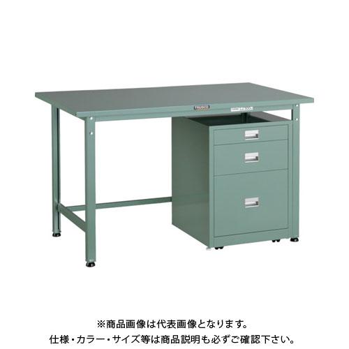【直送品】 TRUSCO SAE型作業台 1200X750XH740 3段キャビネット付 SAE-1200UDC111