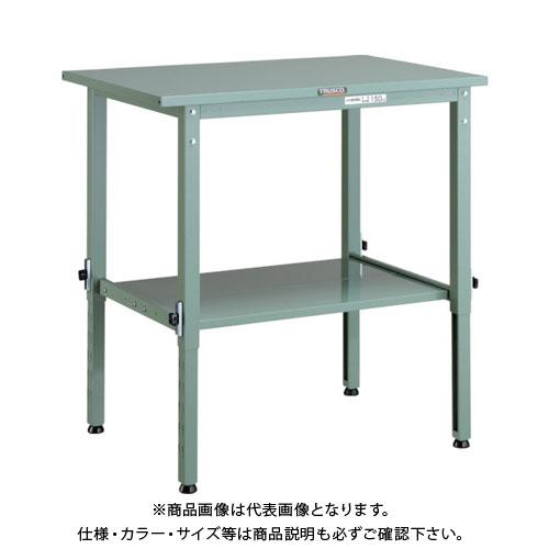 【直送品】 TRUSCO SAEM型高さ調節作業台 900X600 下棚2枚付 SAEM-0960LT2