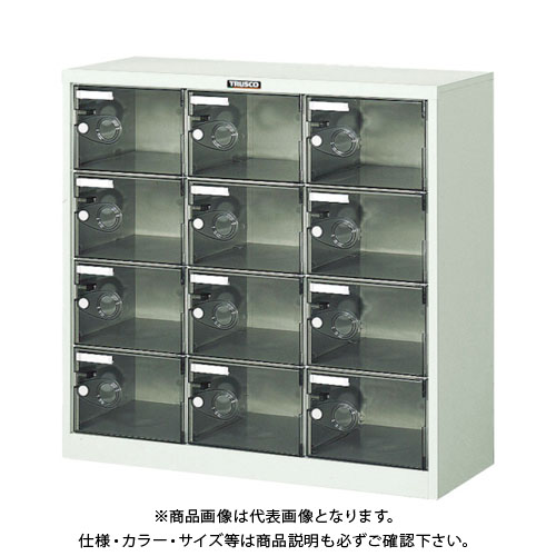 【個別送料2000円】【直送品】 TRUSCO シューズケース 12人用 900X380XH880 透明 SC-12PC