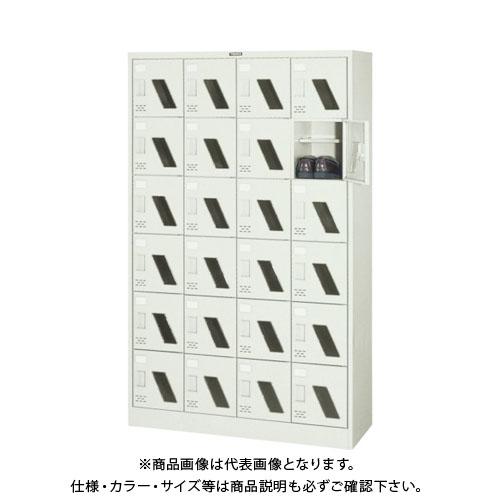【個別送料2000円】【直送品】 TRUSCO シューズケース 24人用 1050X380XH1700 棚付 窓付 SC-24WM