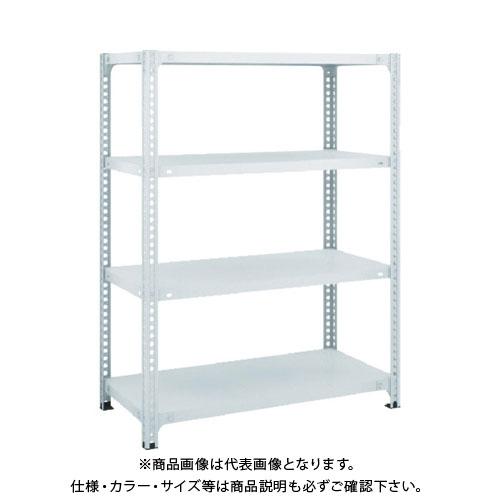 【運賃見積り】【直送品】 TRUSCO セミボルトレス軽量棚 W1500XD450XH1200 4段 W色 SBL-4544-W