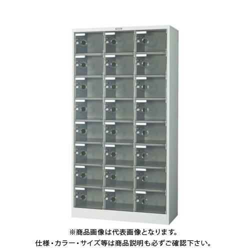 【個別送料2000円】【直送品】 TRUSCO シューズケース 24人用 900X380XH1700 透明 鍵付 SC-24PC-L