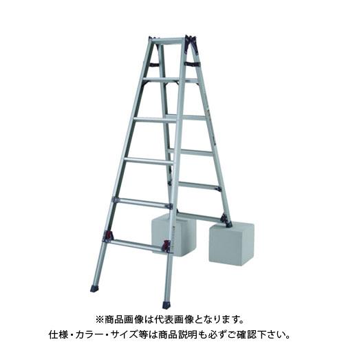 【個別送料1000円】【直送品】ピカ 四脚アジャスト式脚立かるノビSCL型5~6尺 SCL-180A