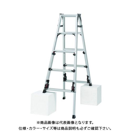 【運賃見積り】【直送品】ピカ 四脚アジャスト式脚立スーパーかるノビSCN型 SCN-150
