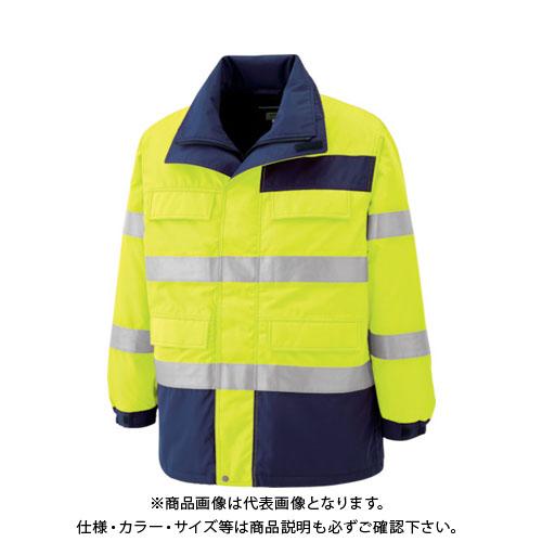 ミドリ安全 高視認性 防水帯電防止防寒コート イエロー 3L SE1124-UE-3L