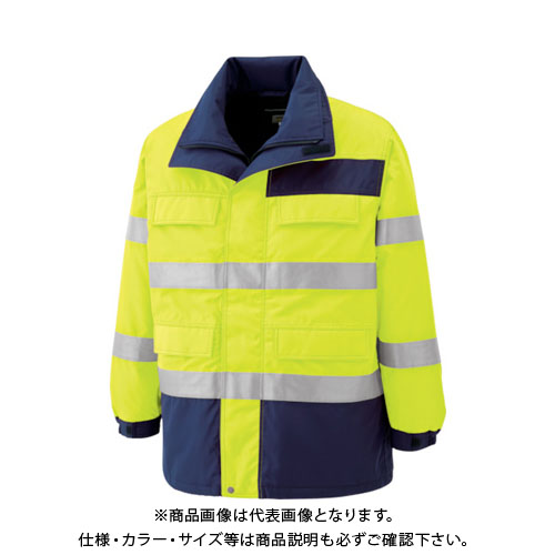 ミドリ安全 高視認性 防水帯電防止防寒コート イエロー 5L SE1124-UE-5L