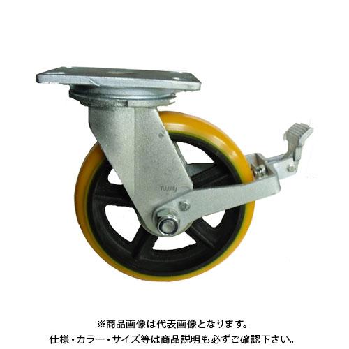 ヨドノ 重量用高硬度ウレタン自在車250φストッパー付 SDUJ250ST
