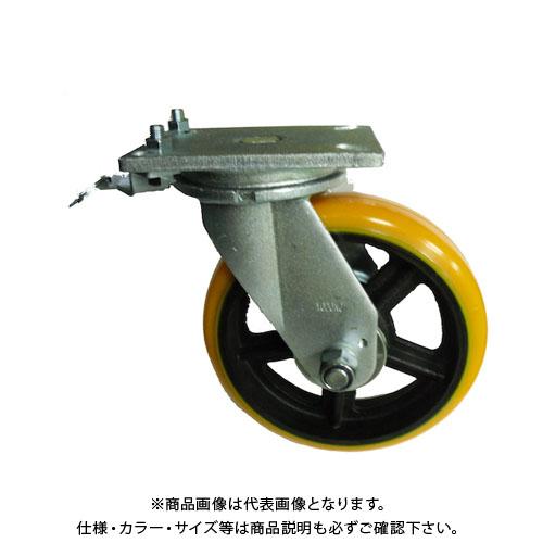ヨドノ 重量用高硬度ウレタン自在車200φ旋回ロック付 SDUJ200TL