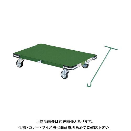 【直送品】TRUSCO 鋼鉄製平台車 800X450 Φ100プレス車 フック引棒付 SHT-8045F