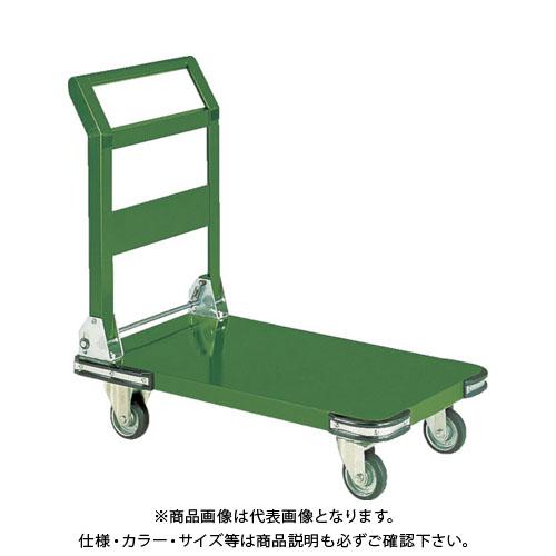 【直送品】TRUSCO 鋼鉄製運搬車折りたたみ式 800X450 Φ100プレス車 SHO-3