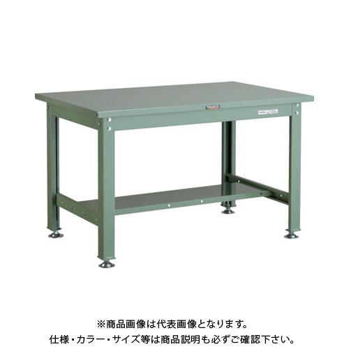 【直送品】 TRUSCO SHW型作業台 1200X750XH740 緑 SHW-1200:GN