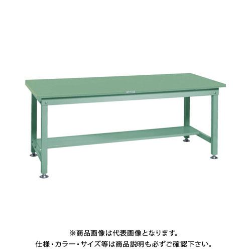 【直送品】 TRUSCO SHW型作業台 1500X900XH740 緑 SHW-1509:GN