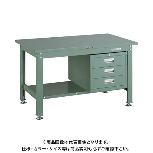 【直送品】 TRUSCO SHW型作業台 1200X750XH740 3段引出付 緑 SHW-1200D3:GN