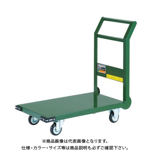 【個別送料1000円】【直送品】TRUSCO 鋼鉄製運搬車 800X450 Φ100プレス車 緑 SH-3N:GN