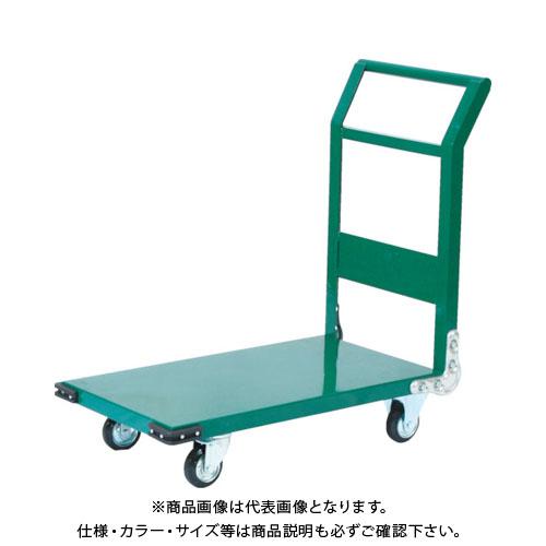【個別送料1000円】【直送品】TRUSCO 鋼鉄製運搬車 900X600 Φ150プレス車 緑 SH-2N:GN