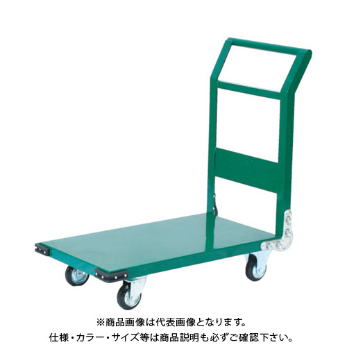 【直送品】TRUSCO 鋼鉄製運搬車 1400X750 Φ200プレス車 緑 SH-1LN:GN