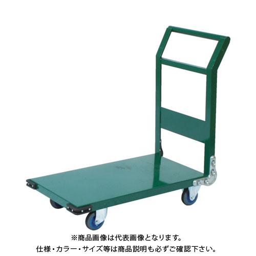 【直送品】TRUSCO 鋼鉄製運搬車 900X600 Φ150エアキャスター 緑 SH-2NAC:GN